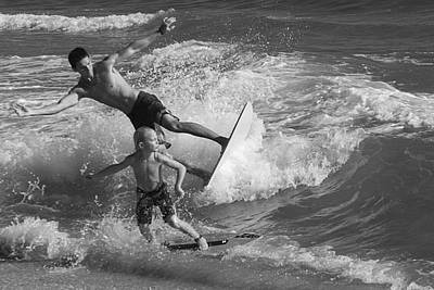 Surfing Magazine Photograph - Father And Son by Michael Gora
