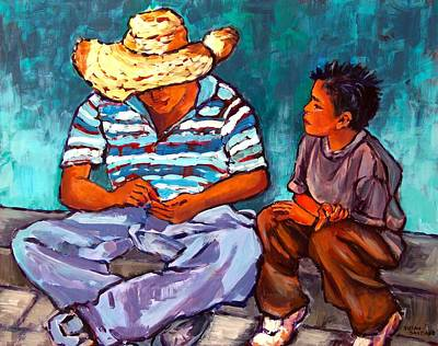 Painting - Father And Son by Susan Santiago