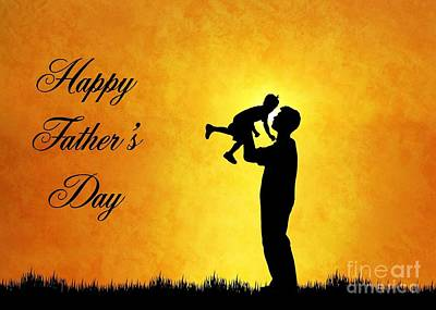 Digital Art - Father And Sun Father's Day by JH Designs