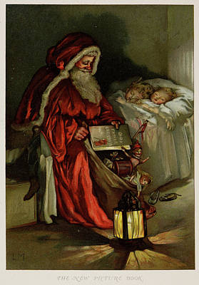 Father Christmas Art Print by British Library