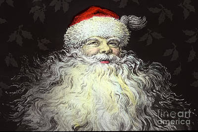 Photograph - Father Christmas Santa Claus  Circa 1900 by California Views Archives Mr Pat Hathaway Archives