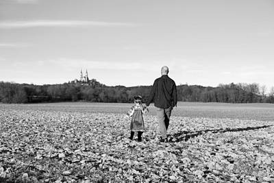 Religion Photograph - Father And Daughter Walking by Alexandra Pollett