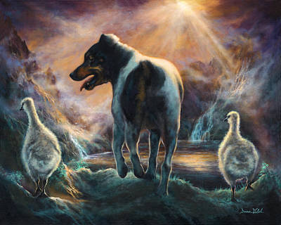 Geese Painting - Father Goose by Donna  Hillman Walsh