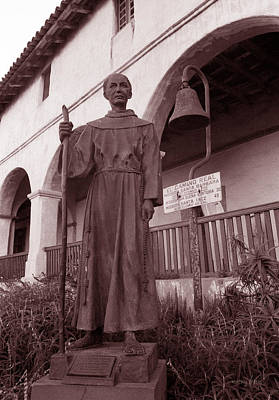Watercolor Typographic Countries - Father Junipero Serra by Kathy Yates