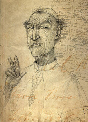 Drawing - Father Mckenzie by Nato  Gomes