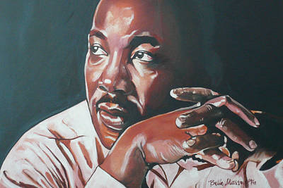 Dr. Martin Luther King Jr Painting - Father Of Dreams by Belle Massey