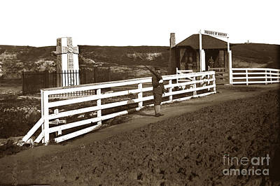 Photograph - Father Serra Celtic Cross At The Artillery - Pacific Streets Gate Presidio Of Monterey Californi1907 by California Views Mr Pat Hathaway Archives