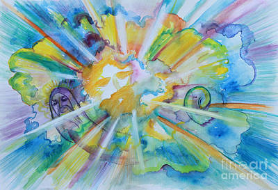 Painting - Father Son And Holy Spirit by Anne Cameron Cutri
