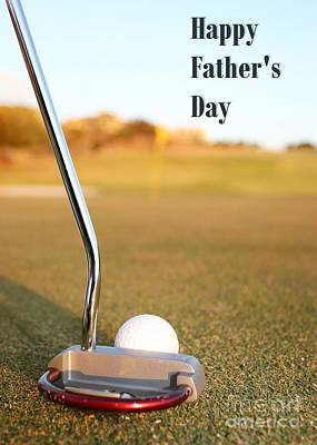 Digital Art - Father's Day Golf by JH Designs