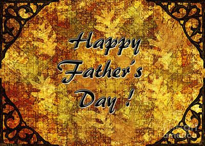 Father's Day Greeting Card I Art Print by Debbie Portwood