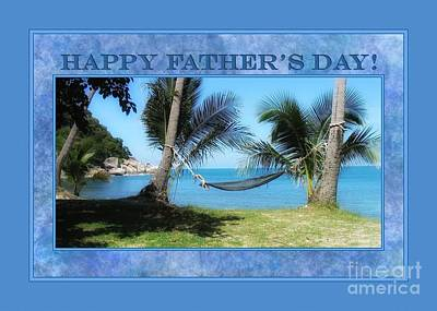 Digital Art - Father's Day Hammock by JH Designs