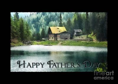 Digital Art - Father's Day Lake View by JH Designs