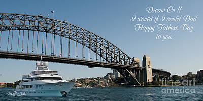 Sydney Skyline Photograph - Fathers Day Photo Message Screensaver 2014 by Geoff Childs