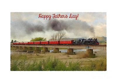 Digital Art - Father's Painted Train by JH Designs