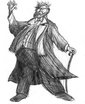 Drawing - Fatman by Richard Erickson