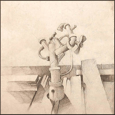 Drawing - Faucetcomp 1971 by Glenn Bautista