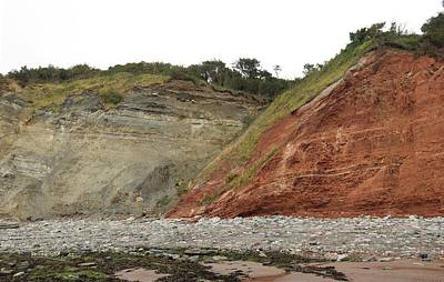 Triassic Photograph - Fault At Blue Anchor by Sinclair Stammers