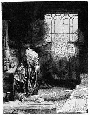 Knowledge Photograph - Faust By Rembrandt by Cci Archives