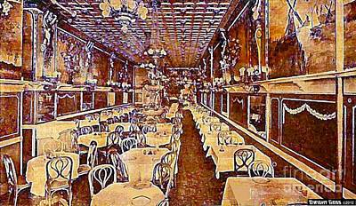 Painting - Faust Cafe And Restaurant In New York City 1910 by Dwight Goss
