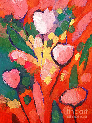 Flower Abstract Painting - Fauve Flowers by Lutz Baar