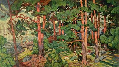 Fauve Painting - Fauve Landscape by Carl-Edvard Diriks