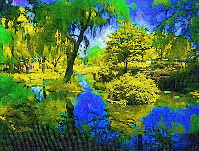 Fauvist Oil Pond Setting Art Print by Skyler Tipton