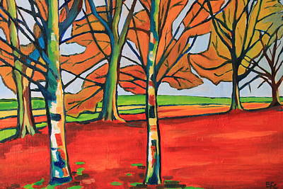 Painting - Fauvist Wood by Emma Cownie