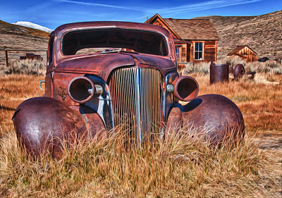 Photograph - Faux Oil Bodie Auto by James Hammond