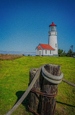Photograph - Cape Blanco Lighthouse - Faux Oil by James Hammond
