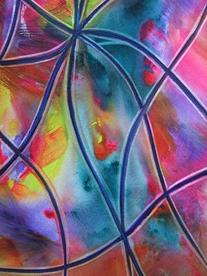 Painting - Faux Stained Glass II by Kim Shuckhart Gunns