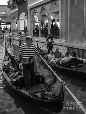 Photograph - Faux Venice Las Vegas 2013 by Edward Fielding