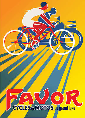 Digital Art - Favor Cycles by Gary Grayson
