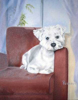 Puppy Painting - Favorite Chair by Beverly Pegasus