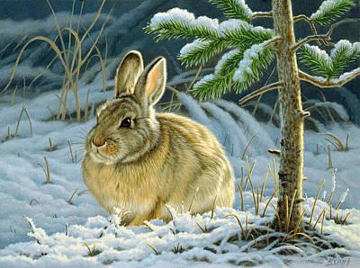 Rabbit Wall Art - Painting - Favorite Place - Bunny by Paul Krapf