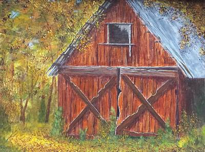 Texas Farm House Painting - Favorite Place by Xochi Hughes Madera
