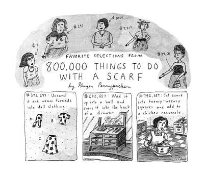 Selection Drawing - Favorite Selections From 800 by Roz Chast