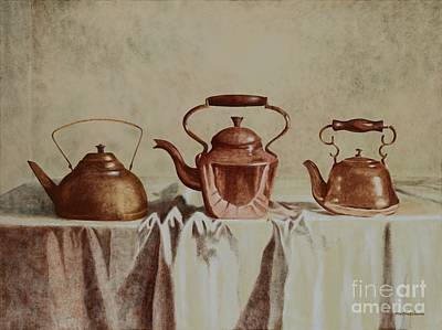Teapot Painting - Favorite Things by Kenneth Hershenson