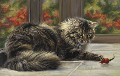 Seasons Painting - Favorite Toy by Lucie Bilodeau
