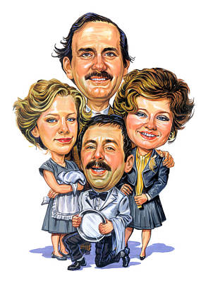 Humor. Painting - Fawlty Towers by Art