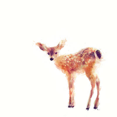 Cute Fawn Painting - Fawn by Amy Hamilton