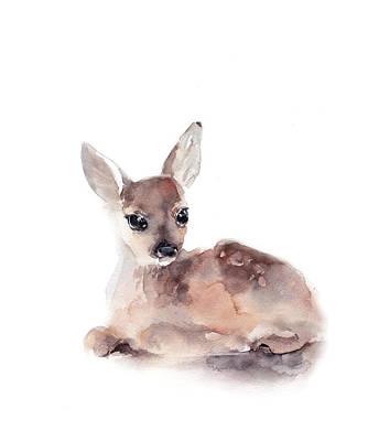Baby Deer Painting - Fawn II by Sophia Rodionov