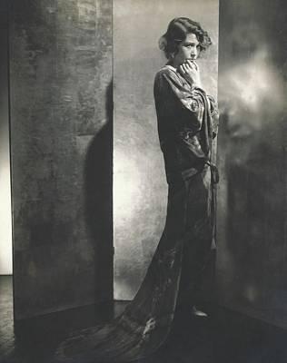 Fay Photograph - Fay Bainter Wearing A Printed Dress by Edward Steichen