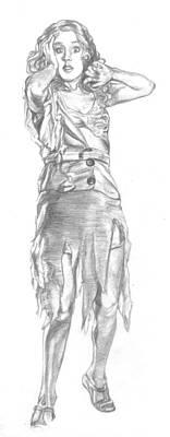 King Kong Drawing - Fay Wray by Bryan Bustard