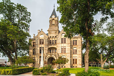 Fayette County Courthouse - La Grange Texas Art Print by Silvio Ligutti