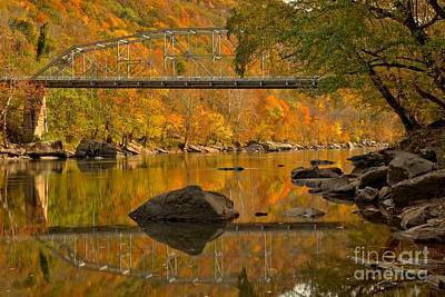 Photograph - Fayette Station Bridge Reflections by Adam Jewell