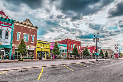 Fayetteville South Side Square Art Print