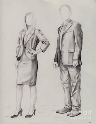 Drawing - Fbi Agents by Tlynn Brentnall