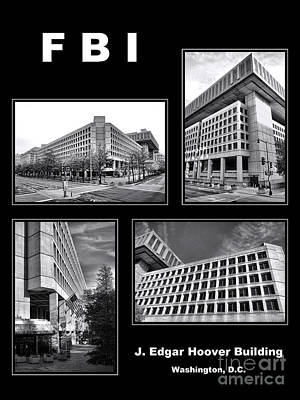 Washington D.c Photograph - Fbi Poster by Olivier Le Queinec