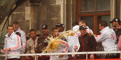 Photograph - Fc Bayern Munich Celebrating The Triple Championship by Rudi Prott