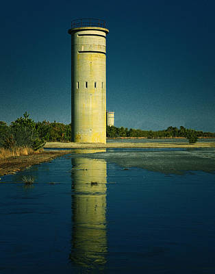 Photograph - Fct3 Fire Control Tower Reflections In Color by Bill Swartwout Fine Art Photography